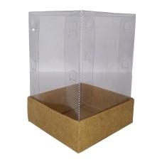 Caixa para Presentes 10x10x16,6 KRAFT Corpo PVC Com 10
