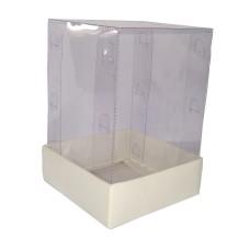 Caixa para Presentes 12x12x22 BRANCO Corpo PVC Com 10
