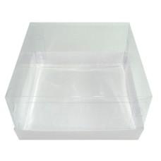 Caixa para Presente 13,5x13,5x6 BRANCO Corpo PVC Com 10