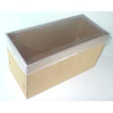 Caixa para Presentes 12x6x6  KRAFT Tampa PVC Com 10