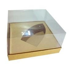 Caixa para Barca de Chocolate BWB G 17x17x9 KRAFT Corpo PVC Com 10