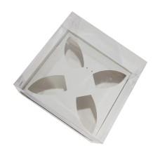 Caixa para Barca de Chocolate BWB P 17x17x9 BRANCO Corpo PVC Com 10