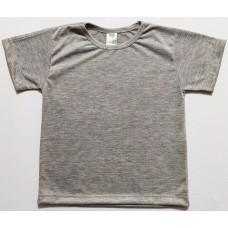 Camisa Infantil Cinza Mescla Para Sublimação
