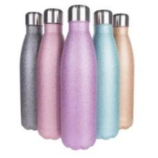 Garrafa Inox Térmica de Glitter para Sublimação