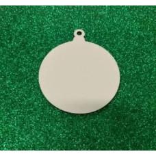 Bola de Natal MDF para Sublimação com 3 Unidades