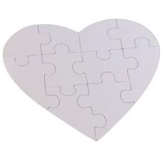 Quebra Cabeça de Coração para Sublimação 10 peças 14x19 - C/10 Und