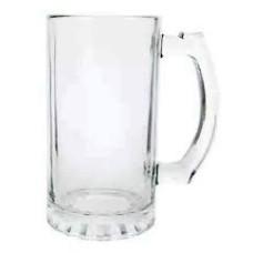 Caneca de Chopp para Sublimação Vidro Liso 475 ml